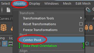 maya how to change pivot point