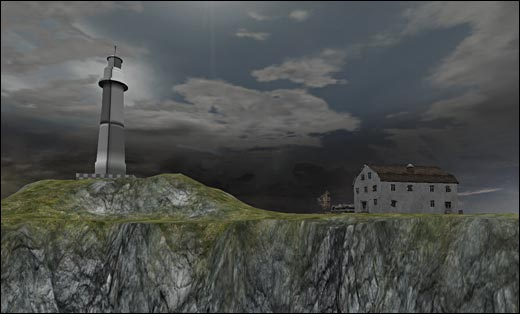 Imported lighthouse from Maya