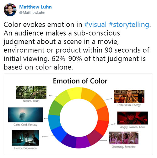 """Color evokes emotion..."""