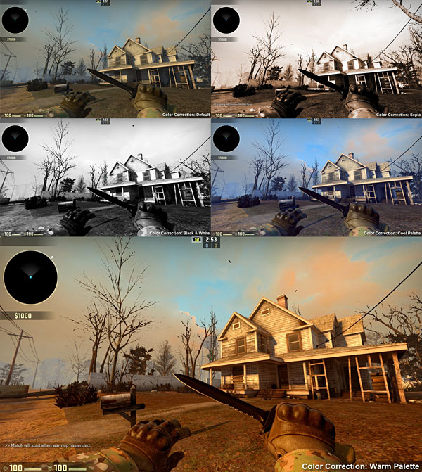 "Color Correction Tests for ""Abandoned House Project"""