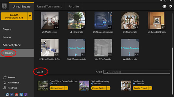UE4: Create Projects From Downloaded File Examples, Samples and