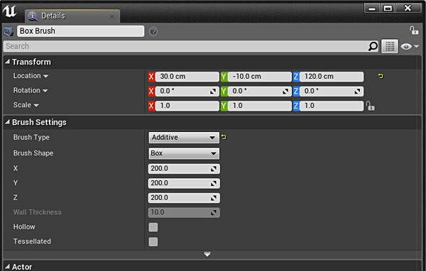 Ue4 27 step crash course to getting started with unreal engine 4 through this details panel you can adjust various settings for that brush such as changing brush type from additive to subtractive changing the size of malvernweather Images