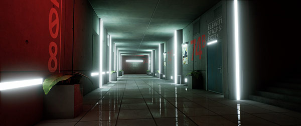 Ue4 spotlight submitted artworks from ue4 the corridor project jerry took the corridor to a whole new level image sharpness and addition of new complimentary color scheme red and green really makes this stand out and sciox Images