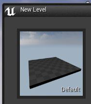 """File > New Level"" and choose ""Default"""