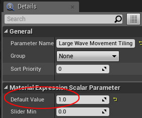 Large Wave Movement Tiling Parameter default value 1