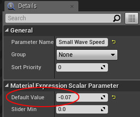 Small Wave Speed Parameter -.07