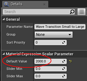 Wave Transition Small to Large Parameter default value 2000