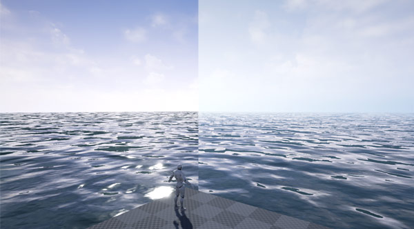 Without and With Exponential Height Fog