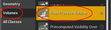 Inserting Post Process Volume