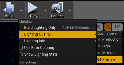 Baking Lighting on Preview
