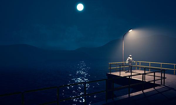 UE4 Tutorial: Night Time Lighting - Moon Sky with BP Sky