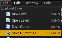 File > Save Current As